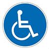 geschikt voor rolstoel 100x100px
